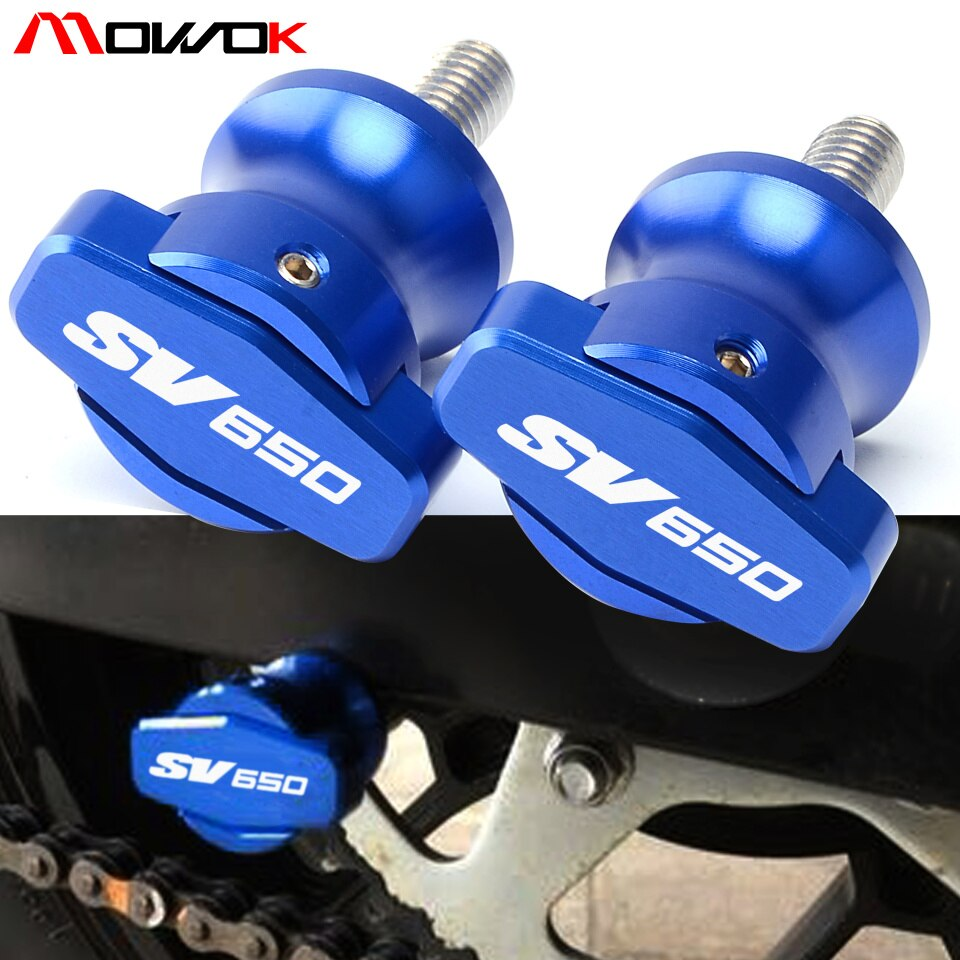 8MM Swingarm Slider Spools For Suzuki SV650 sv 650 2016 2017 CNC Aluminum Motor Stand Screws