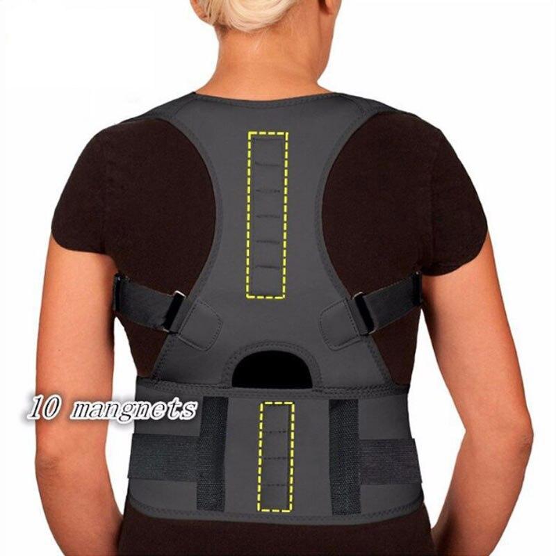 Медицинский Регулируемый магнитный фиксатор для спины снимает боль в спине и позвоночнике, улучшает осанку, бесплатная доставка