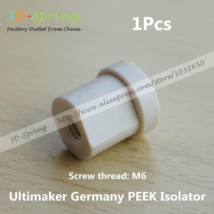 Ultimaker Alemanha M6 Budaschnozzle PEEK PEEK Isolador 2.0 V Rosca Rosca Material
