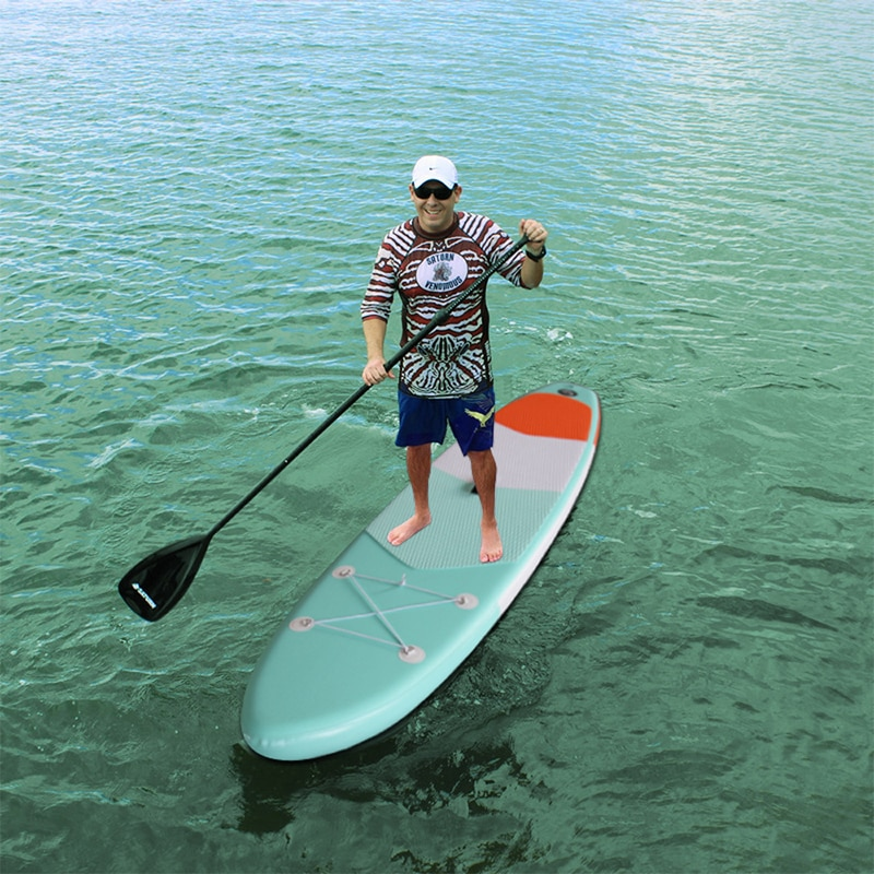 Premium Inflatable Stand Up Paddle Board (6 Inches Thick) with SUP Accessories & Carry Bag | Wide Stance, Bottom Fin for Paddlin