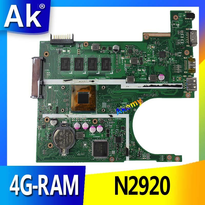 AK X200MA Laptop motherboard für For Asus X200MA F200M F200MA Test original motherboard 4G-RAM N2920 4 kerne CPU