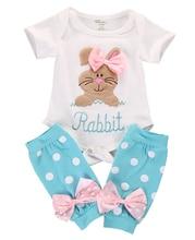 Newborn Toddler Kid Baby Girls Romer Tops+Leg Warmer Outfits 2Pcs Set Summer Clothing