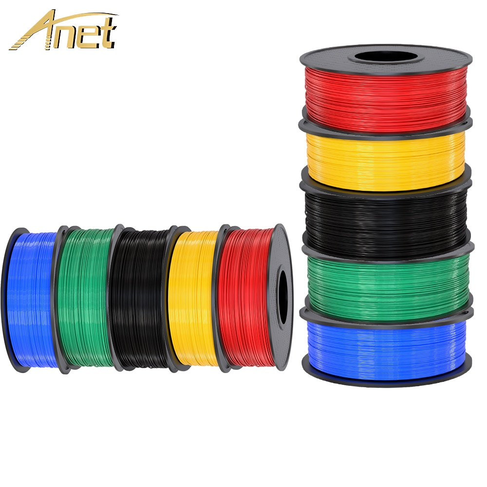 Filamento de impresora 3d Anet 1,75mm 0,5 kg/1kg ABS materiales de impresión para impresora 3D suministros extrusora 3d pluma filamento plástico