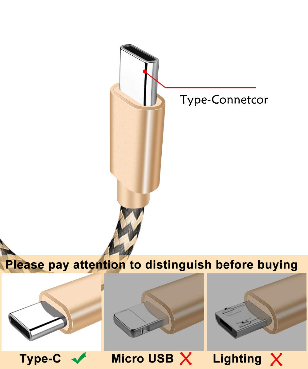 1 metro de largo USB tipo C USB-C Cable de carga para Xiaomi huawei samsung Asus sony honor meizu tipo-C cargador de teléfono móvil