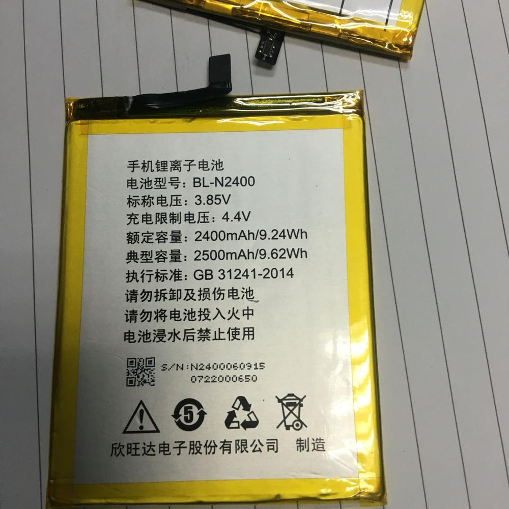 High Quality 9.24wh 2500mAh Big Capacity Phone Battery For GIONEE BL-N2400 Battery smartphone with tracking number enlarge