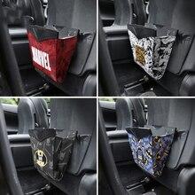 Super Hero Car Storage Bag Styling Car Trash Universal Back Seat Organizer Cartoon Stowing Tidying Pocket Car Accessories