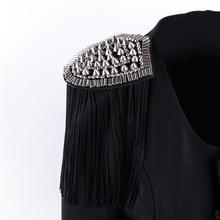British Retro Accessories Luxury Atmosphere Metal Tassel Shoulders Decoration Men And Women Show Costumes