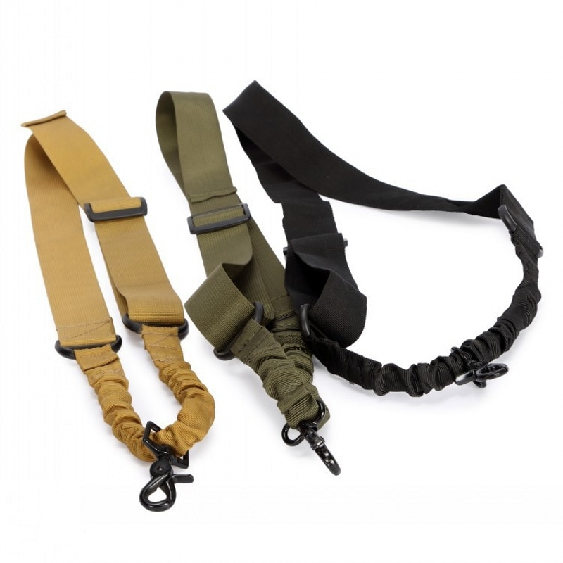 CQC Adjustable Airsoft Tactical Single Point Bungee Rifle Gun Sling Strap Multifunctional Outdoor Shooting Accessories magorui heavy duty tactical one single point sling adjustable bungee rifle gun sling strap