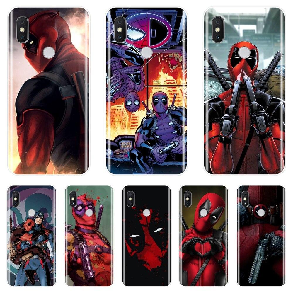 Чехол для телефона с изображением Дэдпул супергероев Marvel для Pocophone F1 Xiaomi Redmi Note 4 4X 5A 6 Pro Prime S2 4A 6A 5 Plus, силиконовая задняя крышка