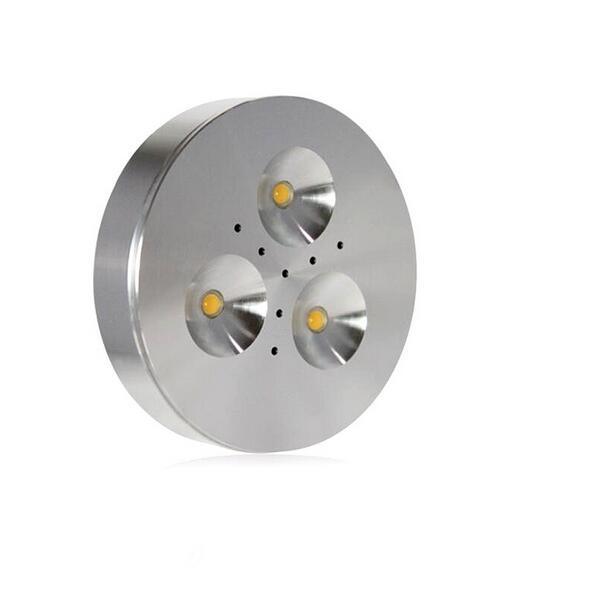 Envío Gratis regulable 3X1 W 4x1 W blanco cálido/blanco frío aluminio LED gabinete luz puck luz led hacia abajo