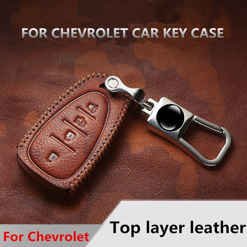 For Chevrolet Malibu XL TRAX Equinox Camaro Cruze 2016 2017 2018 key case luminous leather car remote keychain  shell