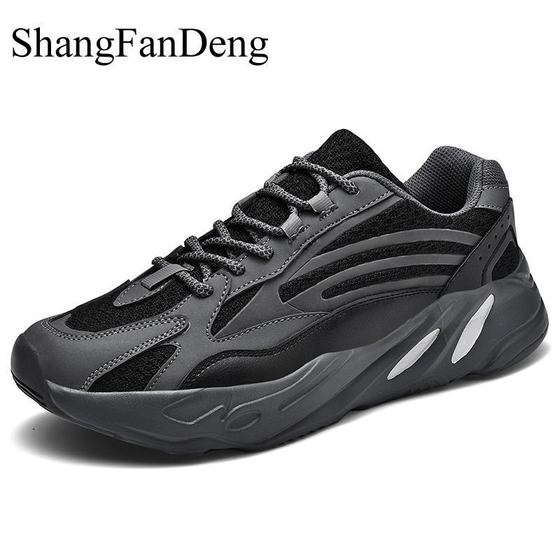Zapatillas de hombre de talla grande transpirables para hombre, zapatos informales con cordones para correr para hombre, zapatos antideslizantes resistentes al desgaste, suela fluorescente