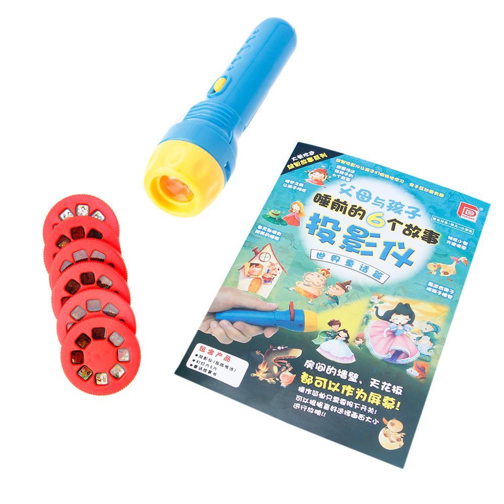 Contos de fadas dormir história luz projetor lanterna brinquedos crianças brinquedo educativo