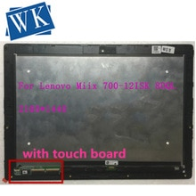 Para Lenovo Ideapad Miix 700-12ISK 80QL montaje LTL120QL01-001 003 2160*1440 pantalla LCD pantalla táctil con marco bisel
