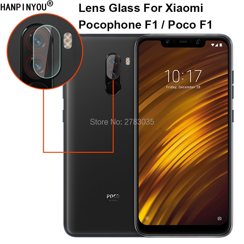 "For Xiaomi Pocophone F1 / Poco F1 6.18"" Clear Ultra Slim Back Camera Lens Protector Rear Camera Lens Cover Tempered Glass Film"