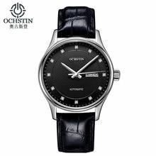 Montre automatique classique hommes bracelet en cuir véritable militaire Ochstin montres de marque de luxe robe montres femmes Reloj Hombre