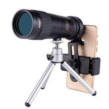 10-30X40 8-24X30 أحادي العين التكبير تلسكوب عالية الطاقة تلسكوب منخفض ضوء للرؤية الليلية bak4 HD مع هاتف مزود بكاميرا كليب ترايبود