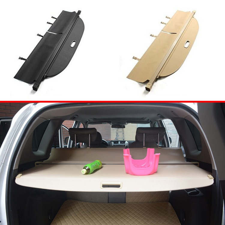 Para TOYOTA RAV4 2008-2013 aluminio + lona cubierta para maletero privacidad maletero pantalla escudo de seguridad accesorios de sombra