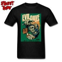 Evil Dave T-shirt Comics Poster T Shirt Men Gorilla Sucker Tops Swag Street Streetwear Plus Size Male Cotton Tees Black Red