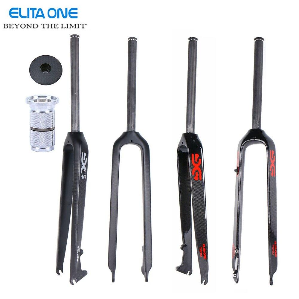 ELITA ONE полностью углеродное волокно горный велосипед вилка велосипедный дисковый тормоз 26 ER/ 29 ER дюймов mtb bicicleta аксессуары