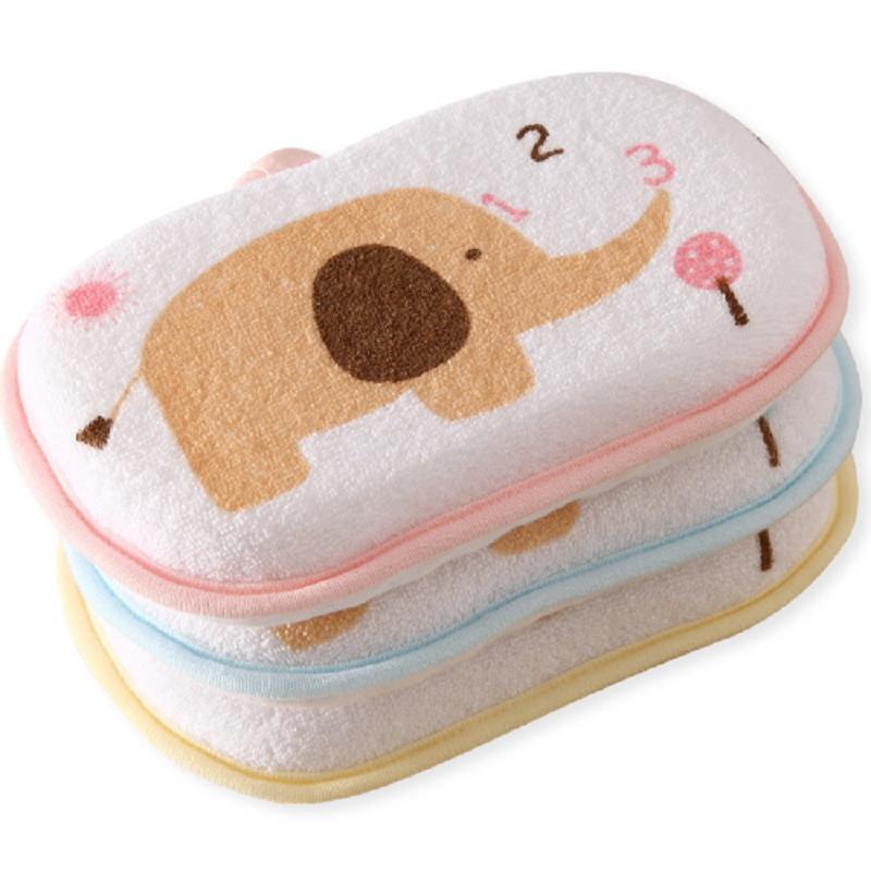 1 sztuk śliczne noworodka Baby Shower bawełna pocieranie ciała ręcznik do mycia akcesoria do kąpieli gąbka Rub niemowlę maluch dzieci szczotki do kąpieli