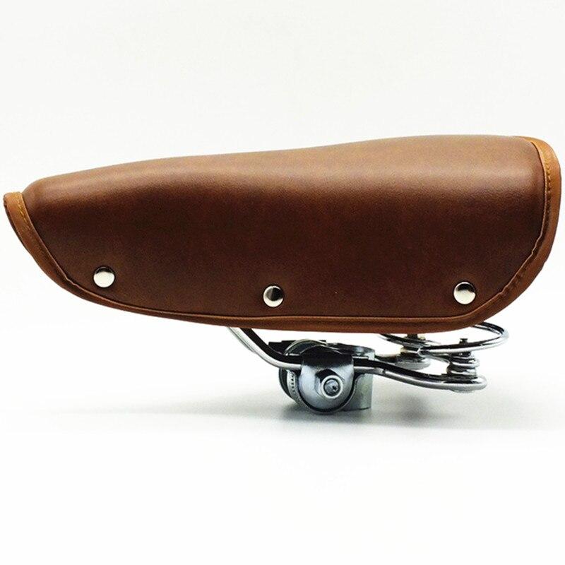 Q841 retro assento de bicicleta retro commuter carro pu bicicletas sela super macio 250*200mm peças da bicicleta mtb bicicleta estrada