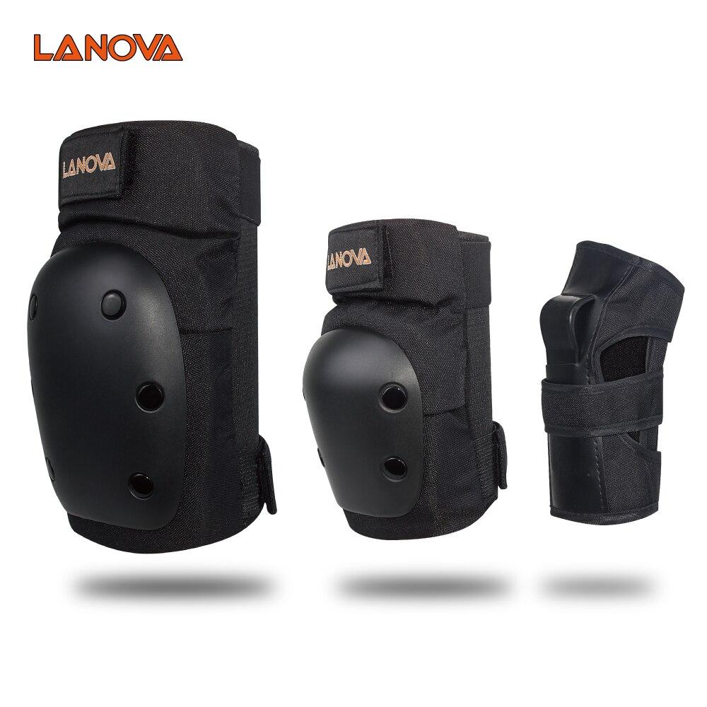 LANOVA 6 шт./компл. набор защитных покрытий наколенники налокотники Защита запястья защита для скутера Велоспорт Катание на роликах 4 размера