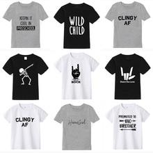 Manga curta 2019 verão meninos t camisa 100% algodão camiseta menina topos crianças manga curta criança camiseta para menino aniversário roupas