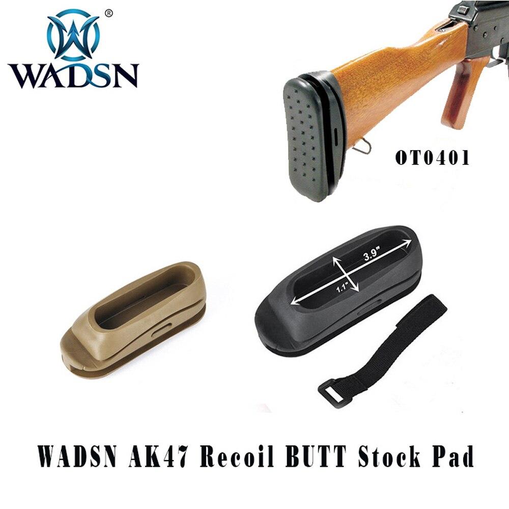 WADSN a prueba de golpes a prueba de táctica AK STOCK de Airsoft Paintball retroceso trasero de SMSR? Rifle pistola y accesorios de caza WOT0401