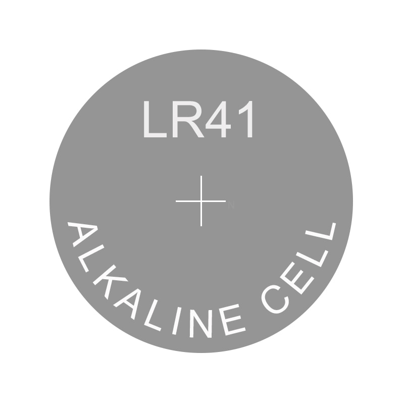 Alcalina pila de botón LR41 sustituye a AG3 1135SO 192, 384, 392, 736 D384 D392 LR736 RW37 RW47 S736 SG3 SP384 SP392 SR41 SR41SW