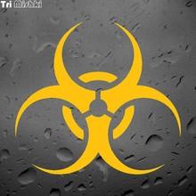 Tri Mishki LBH511 15*13.8 centimetri simbolo di Pericolo autoadesivo dellautomobile/giallo/argento/nero/rosso Decalcomanie In Vinile accessori moto Adesivi