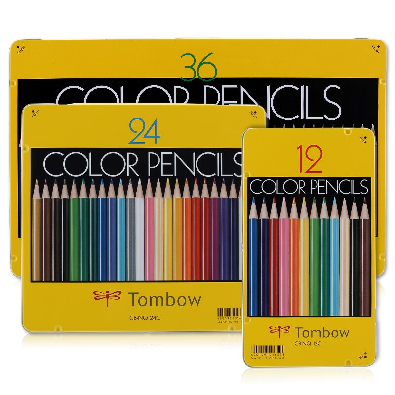 Tombow12 24 36 cor lápis de cor oleosa seguro não-tóxico lápis de cor para profissão arte desenho esboço lapis