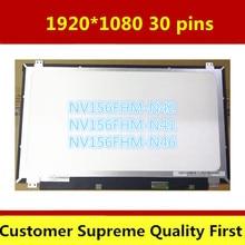 "15.6 ""lcd led شاشة الكمبيوتر المحمول ل بنك انجلترا NV156FHM-N46 NV156FHM-N42 NV156FHM-N43 1920*1080 IPS 30PIN EDP LCD شاشة 5D10K18374"