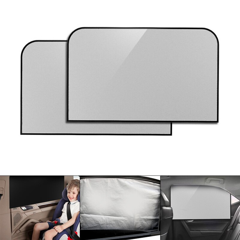 2 unids/par Universal ventana lateral del coche aislamiento térmico previno las pantallas de sombra Bask con imán de protección UV accesorios de coche