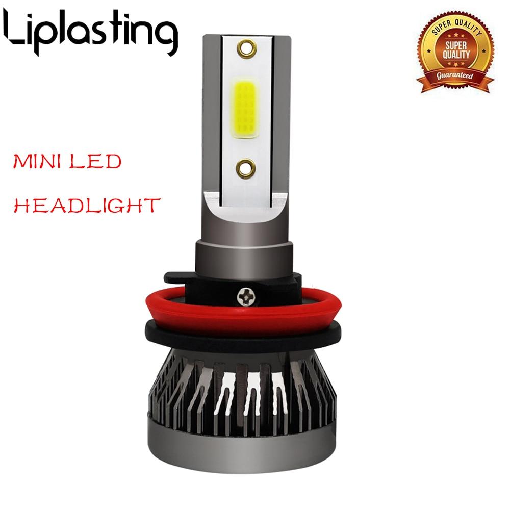 1 LED H7 H4 H11 H1, bombillas de faro delantero de coche 9005 9006, luz LED antiniebla 90W 12000LM 6000K, estilismo blanco para coche