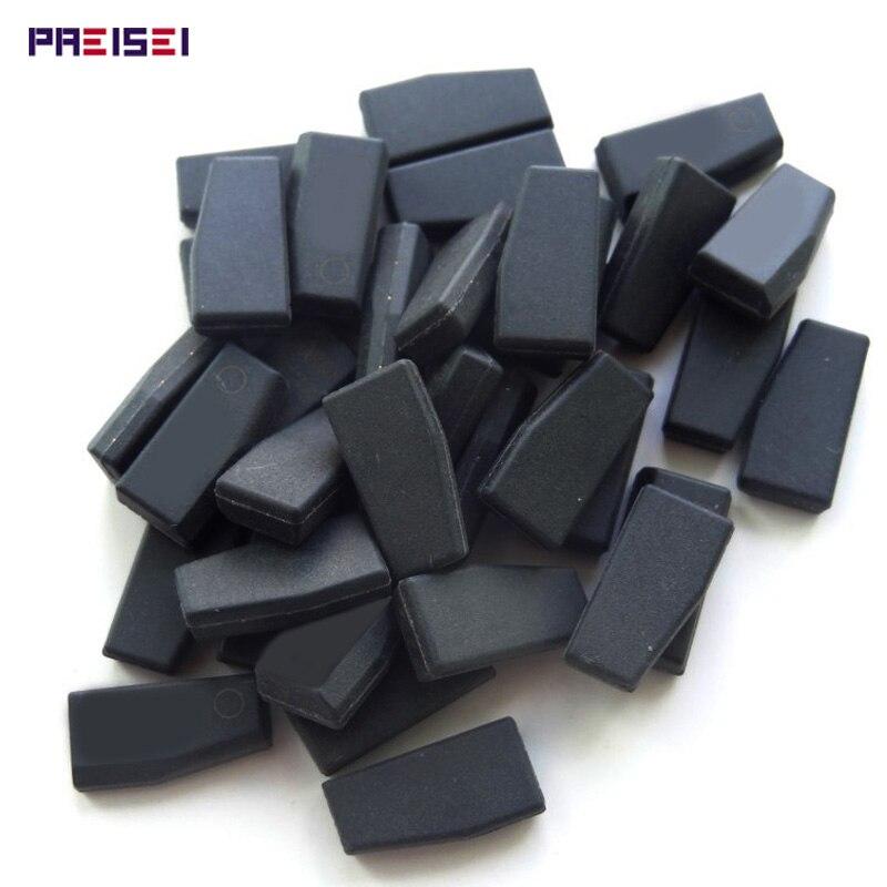 PREISEI 10 pçs/lote Substituições PCF7936AA Transponder Chip PCF7936AS Preto Para Honda Nissan Citroen Peugoet