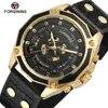 FORSINING – montre de luxe automatique pour hommes bracelet en cuir véritable squelette analogique cadran tendance vente complète