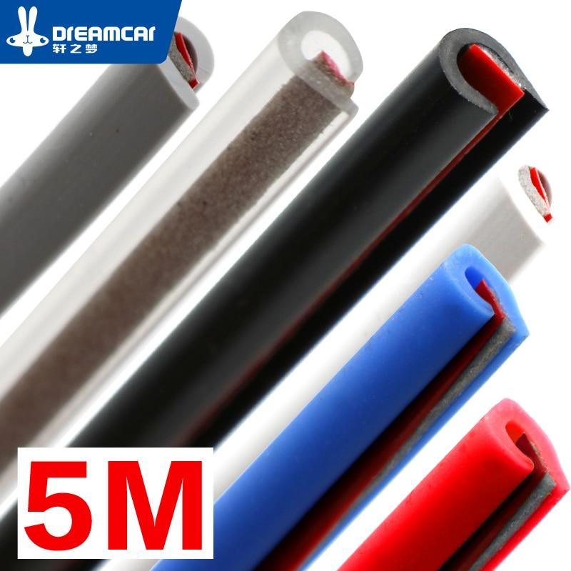 "5 M""U""Type car door rubber seal Sound Insulation sealing strip weatherstrip noise insulation car auto rubber seal Strips"