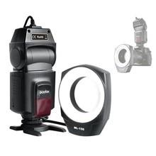 Кольцевая вспышка Godox для камер Canon, Nikon, Pentax, Olympus, с 6 переходными кольцами для объектива 10, ML-150
