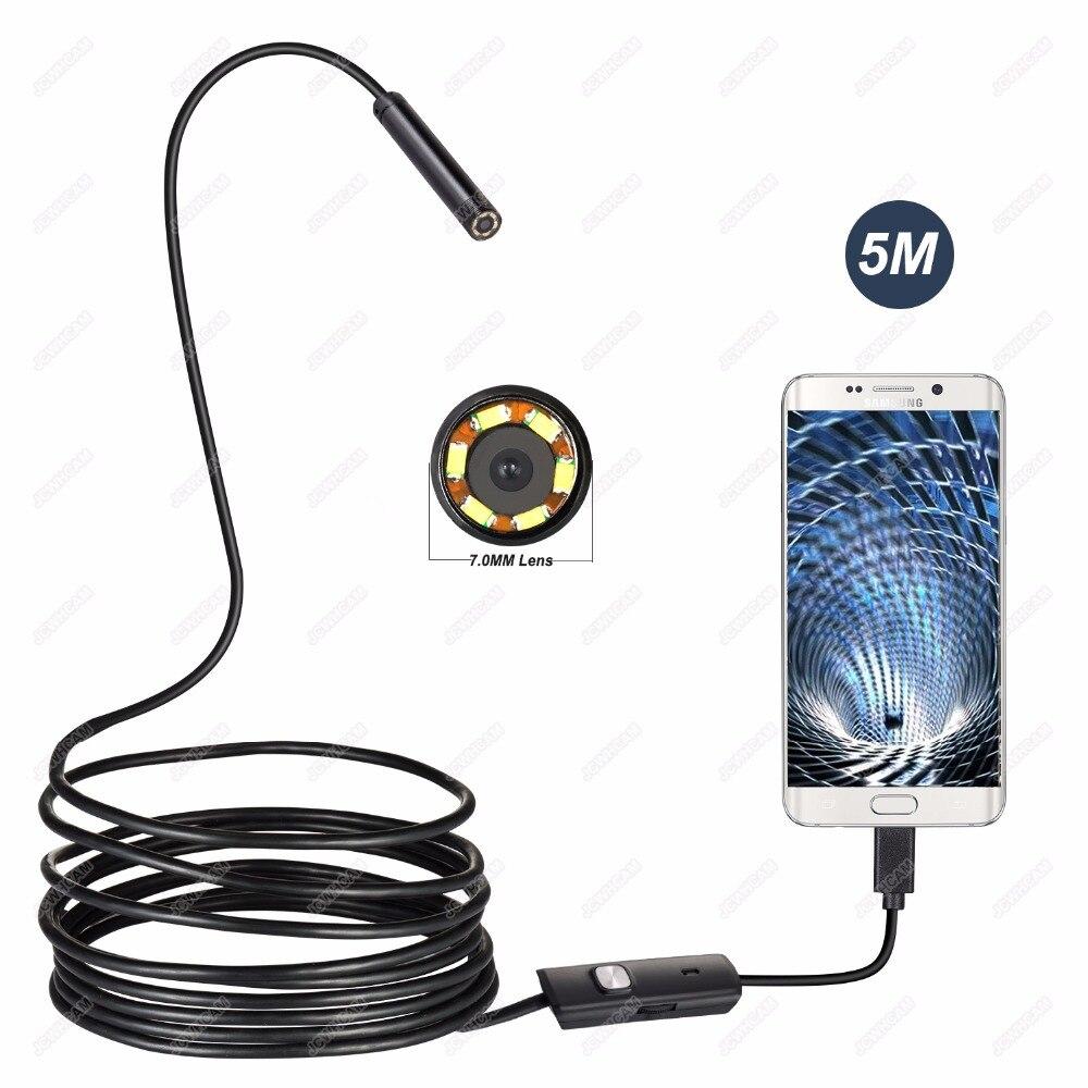 1/2/3/5 mt/10 mt 7mm USB Endoskop Wasserdicht Android Endoskop Kanalisation Kamera für OTG USB Draht Schlange Rohr Kamera Auto Inspektion