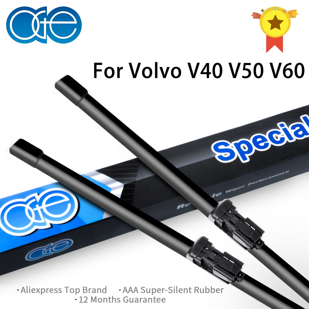 OGE Front Wiper Blades For Volvo V40 V50 V60 1995-2019 Windscreen Windshield Rubber Car Auto Accessories