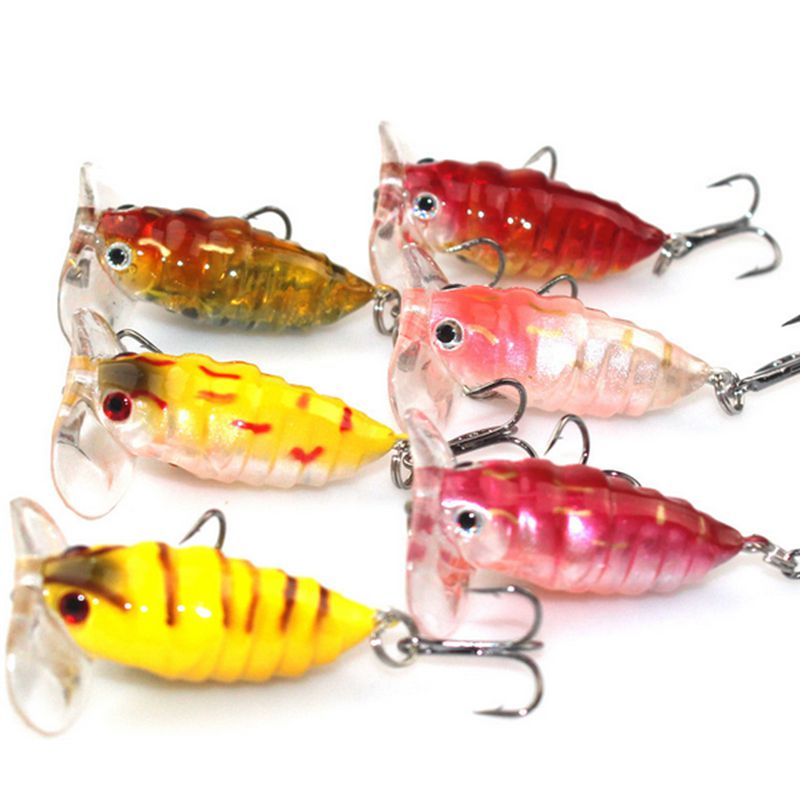 Hot! 6Pcs High Quality Insect Bait Bee Fishing Lure Carp Fishing Tackle Freshwater Reservoir Pond Fishing Wobblers 40mm 4.2 g enlarge