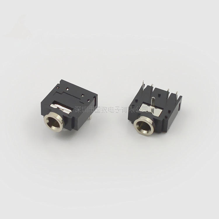 Envío Gratis 20 piezas 3,5 MM para auriculares PJ-307 3F07 de Audio hembra PJ307 5PIN negro