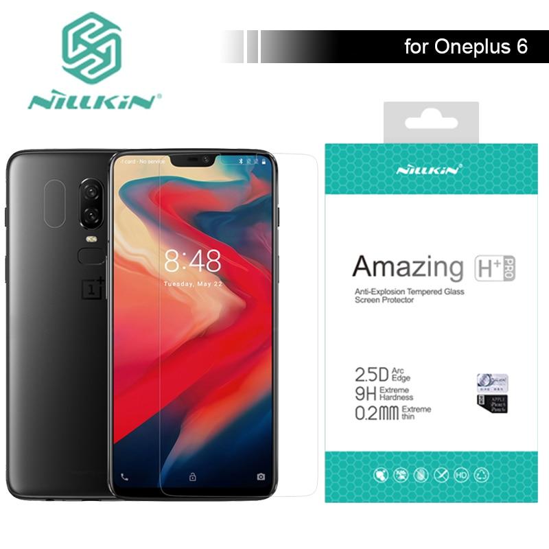 Nillkin – protecteur d'écran pour Oneplus 6, en verre trempé 2.5D, anti-rayures, Ultra-mince, 0.2mm, Film en verre pour Oneplus 6 3