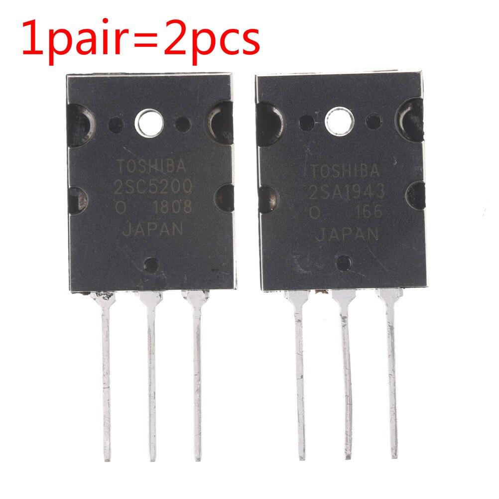 1 par 2SA1943 2SC5200 TO-3PL Transistor NPN amplificador de Audio + PNP