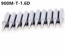 SZBFT 10X Good quality solder iron tip 900M-T-1.6D for hakko 907 handle