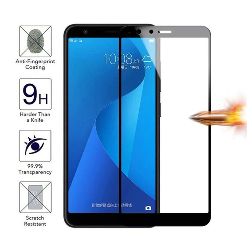 For Asus Zenfone 4 Max ZC520KL ZC554KL Full Cover Protective Tempered Glass on 4 Selfie ZD553KL Live ZB501KL Screen Protector 9H