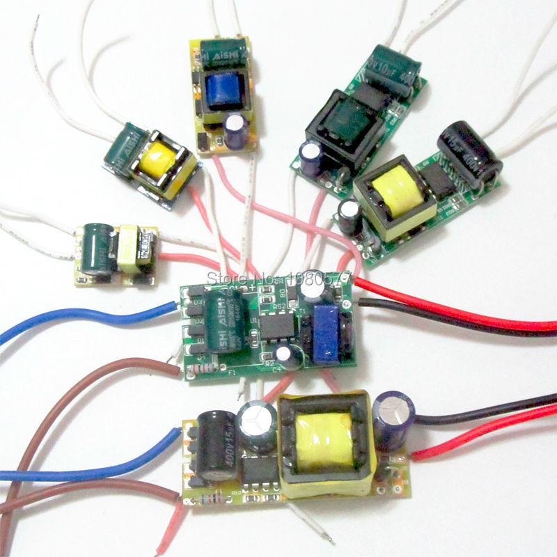 Transformador de iluminación de 1W-50W para controlador LED de corriente constante de encendido para lámpara, 280mA, 300MA, 3W, 5W, 7W, 9W, 10W, 20W, 30W, 36W y 50W