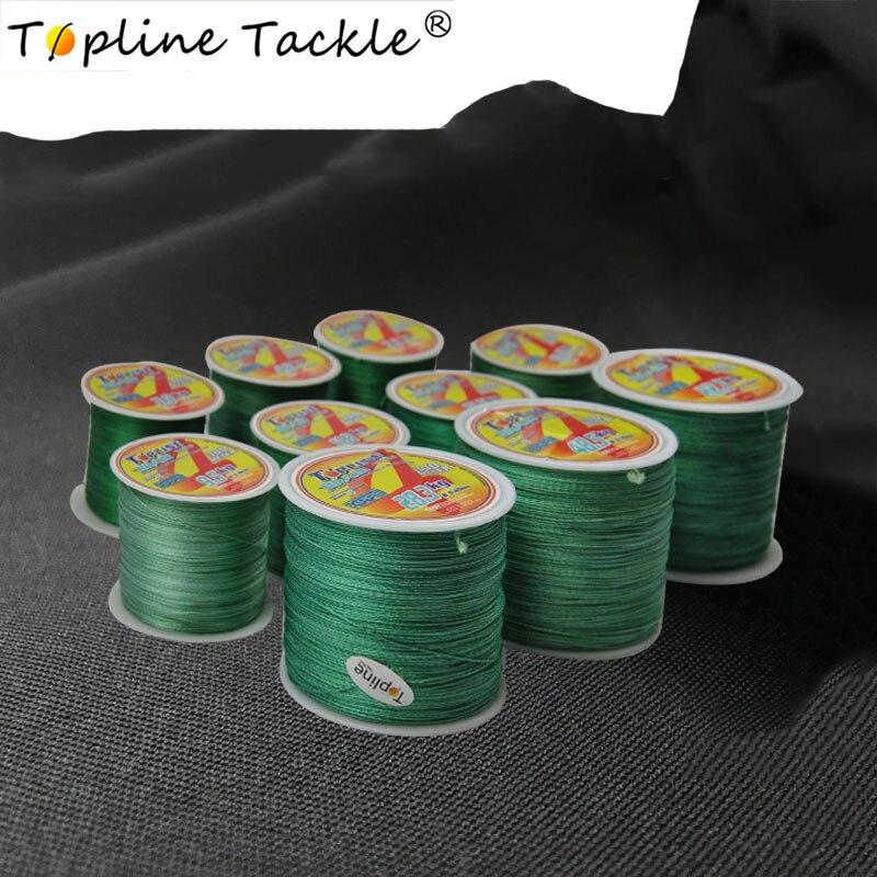 Topline Tackle 4X línea multifilamento 100M 300M LÍNEA DE Pesca flotante hilo de pesca trenzado para la pesca 0,25mm 0,3mm de diámetro