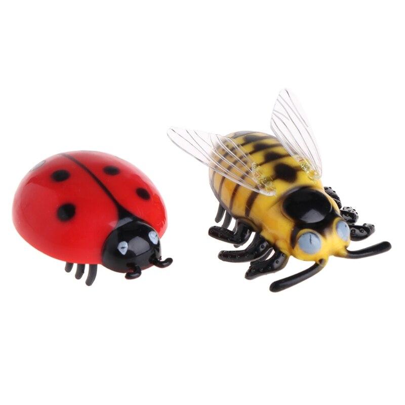 Funny Cat Toys Teaser Interactive Pet Beetle Cicada Auto Electric Walking Insect Mini JUN-4D